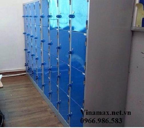 Tủ sắt mầm non 16 cánh màu xanh