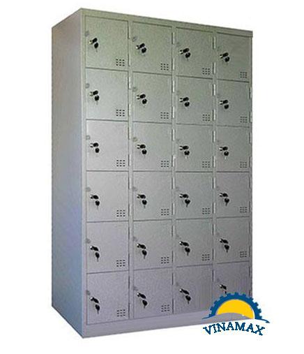 Tủ sắt locker 24 ngăn cho siêu thị