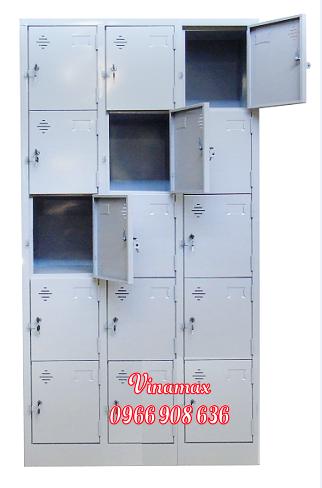 tủ sắt 15 ngăn học sinh